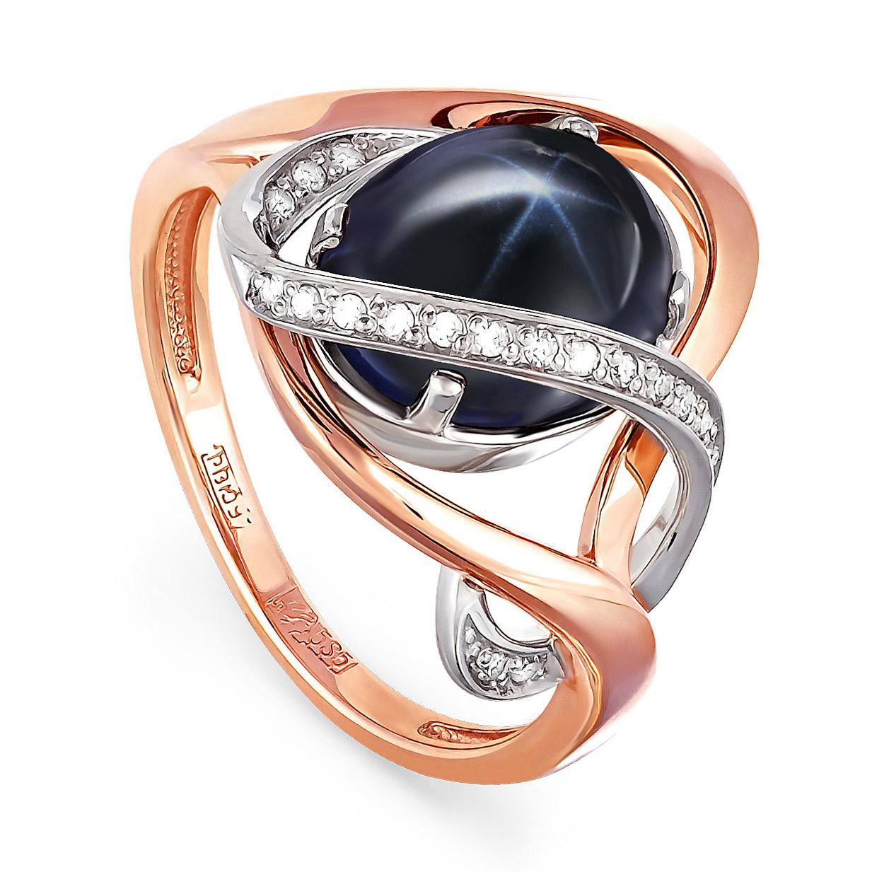 Золотое кольцо Бриллиант и Сапфир арт. 11-0367-1400 11-0367-1400