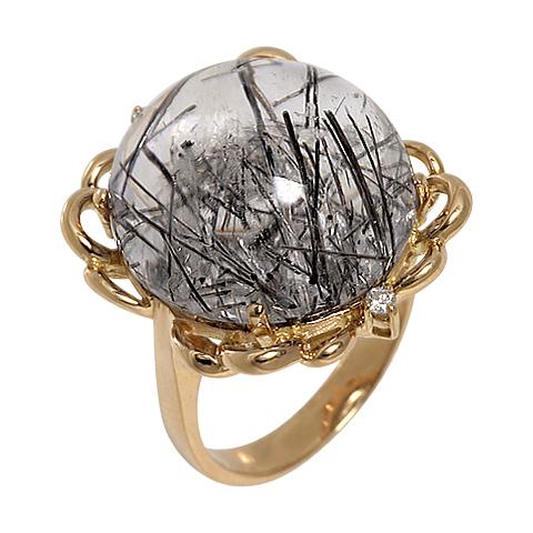 1-01236 Кольцо из белого золота