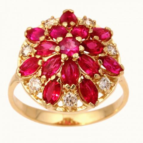 1-00349 Кольцо из белого золота