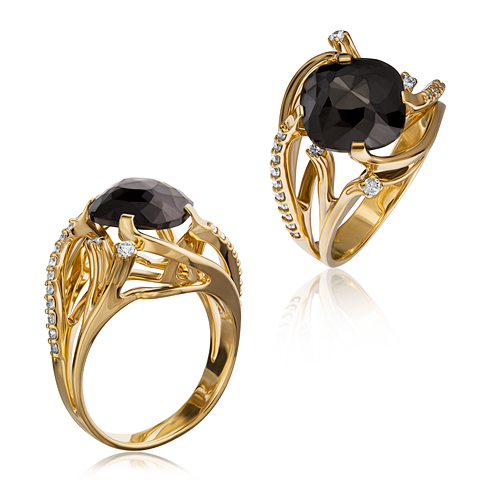 1-01862 Кольцо из белого золота