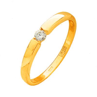 б-300-110 Кольцо из белого золота