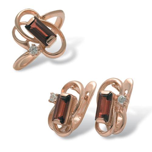 Серебряное кольцо Аметист арт. 4к-441-05 4к-441-05