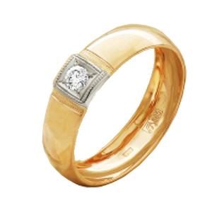 Обручальное кольцо из золота с бриллиантом арт. 530-110 530-110