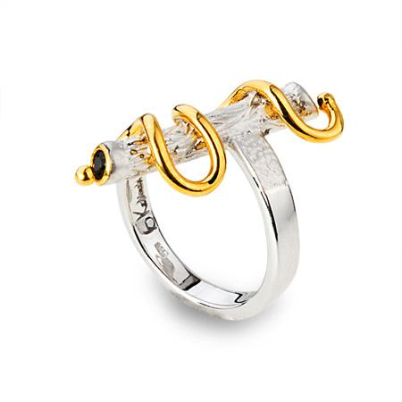 Серебряное кольцо Сапфир арт. 100494 100494