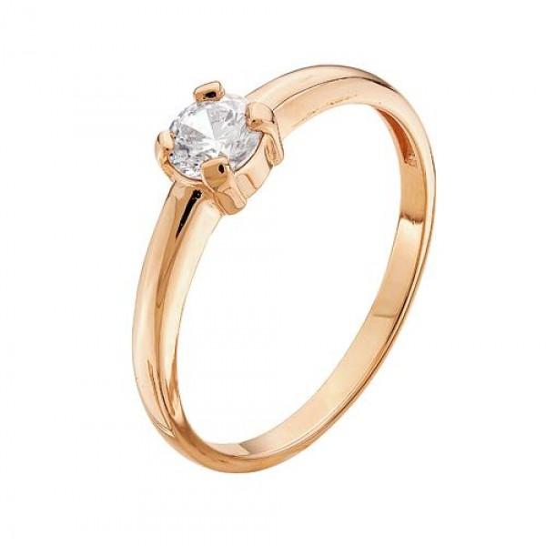 Золотое кольцо Кристалл сваровски арт. 1-1129 1-1129