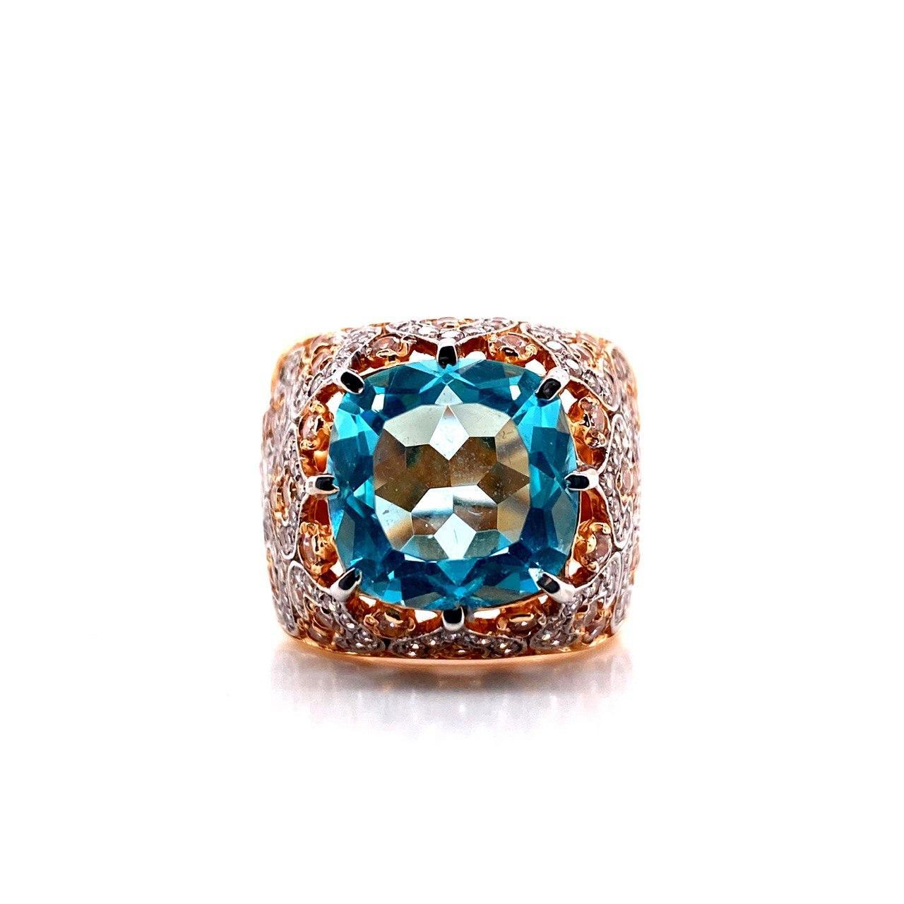 Золотое кольцо Топаз арт. к720 к720