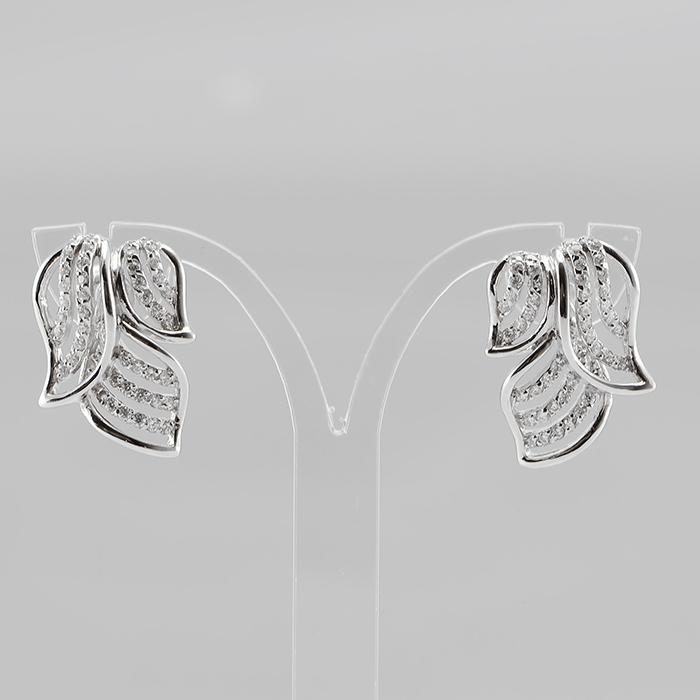 Серебряные серьги с цирконием арт. e903309 e903309