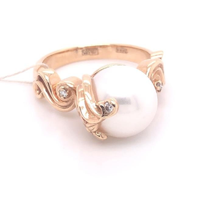Золотое кольцо Бриллиант и Жемчуг арт. 91622056 91622056