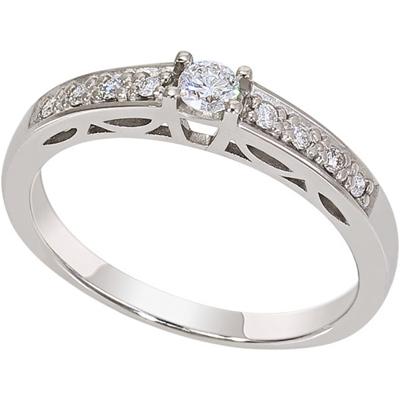 Кольцо из белого золота Бриллиант арт. 1019701-21140 1019701-21140