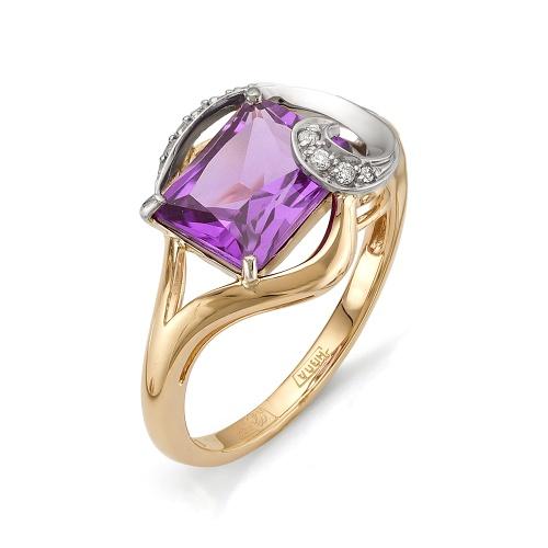 Золотое кольцо Аметист и Бриллиант арт. 1-105-582 1-105-582