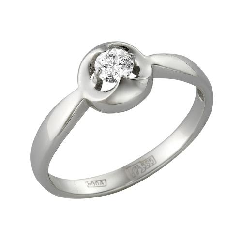 Кольцо из белого золота Бриллиант арт. 1-105-383 1-105-383