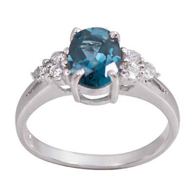 Серебряное кольцо Топаз и Фианит арт. 022655-01-02 022655-01-02