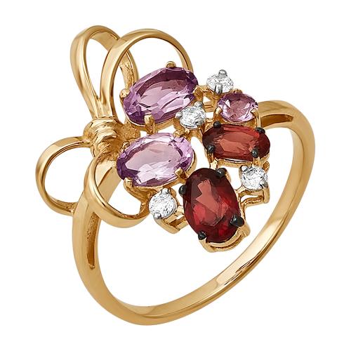 Золотое кольцо Топаз и Фианит арт. 125232-1 125232-1