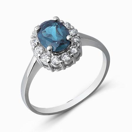 Серебряное кольцо Топаз и Фианит арт. 05328 05328