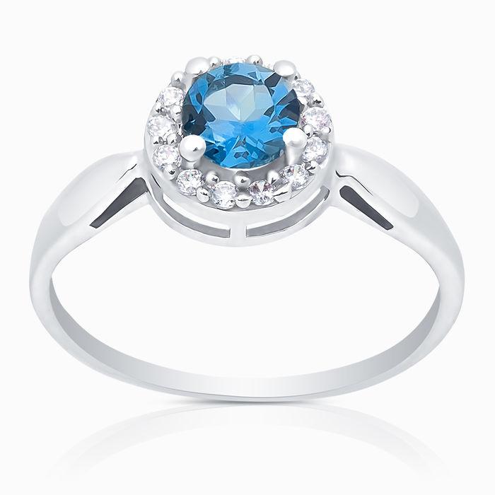 Серебряное кольцо Топаз и Фианит арт. 05367 05367