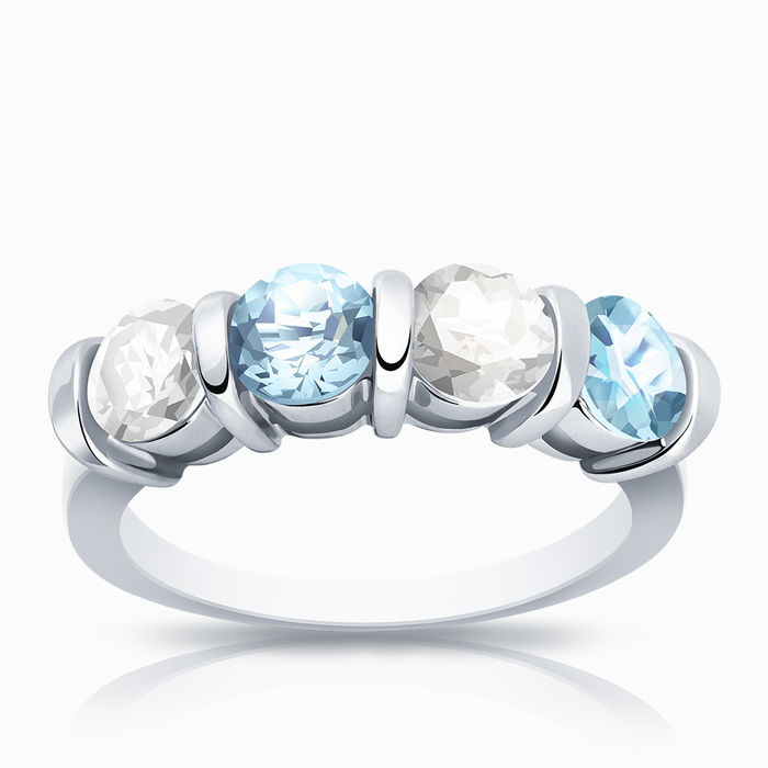 Серебряное кольцо Прочие и Топаз арт. 01646 01646