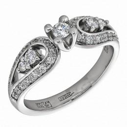 Кольцо из белого золота Бриллиант арт. 010430 010430
