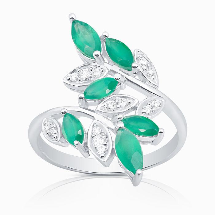 Серебряное кольцо Агат и Фианит арт. 09824 09824