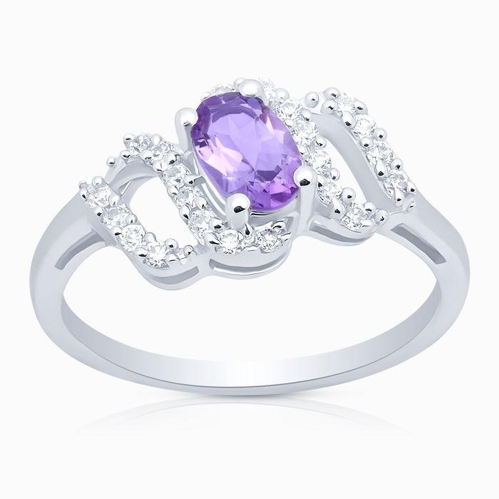 Серебряное кольцо Аметист и Фианит арт. 06559 06559