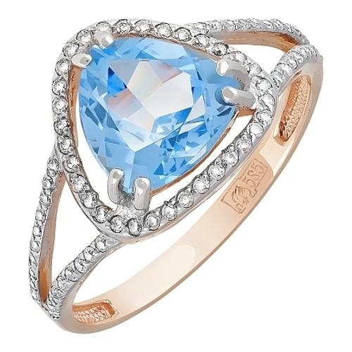 Золотое кольцо Топаз и Фианит арт. кл-530к-т кл-530к-т