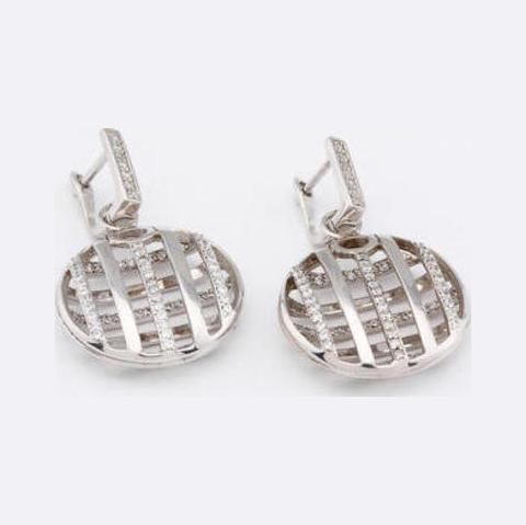 Серебряные серьги с цирконием арт. 2ав0158704 2ав0158704