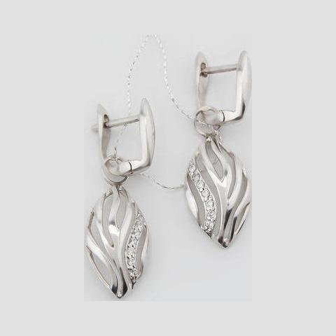 Серебряные серьги с цирконием арт. 2ав0160004 2ав0160004