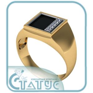 Золотая печатка с фианитом Фианит арт. 50-02-404 50-02-404