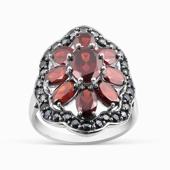 Серебряное кольцо Гранат и Шпинель арт. 06058 06058