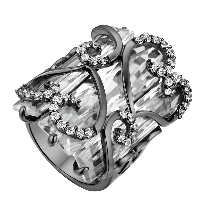 Серебряное кольцо Фианит арт. sr1158-z-b sr1158-z-b
