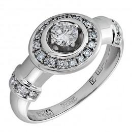 Кольцо из белого золота Бриллиант арт. 010429-б 010429-б