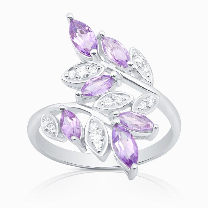 Серебряное кольцо Аметист и Фианит арт. 04188 04188