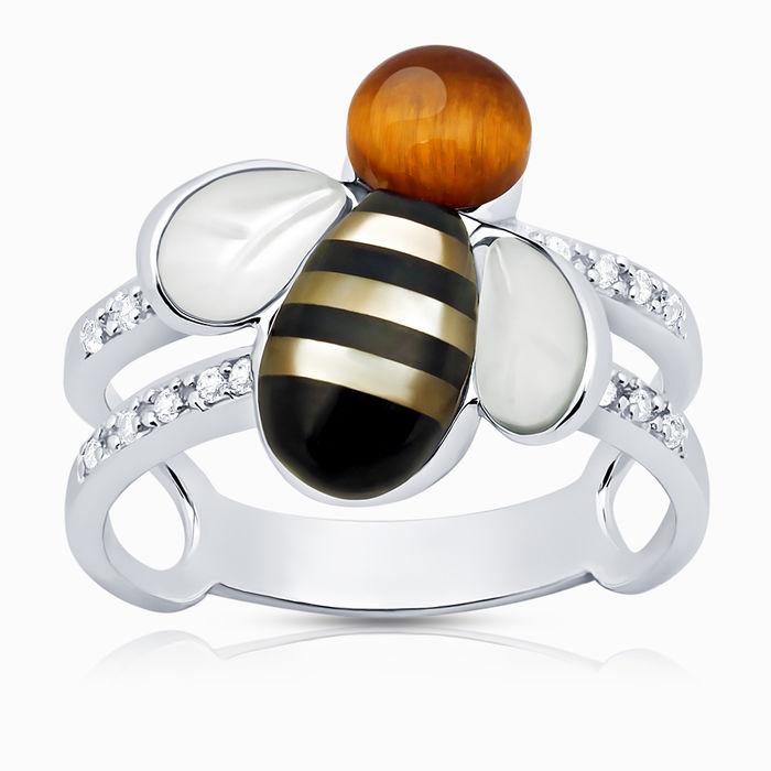 Серебряное кольцо Оникс, Прочие и Фианит арт. 00420 00420