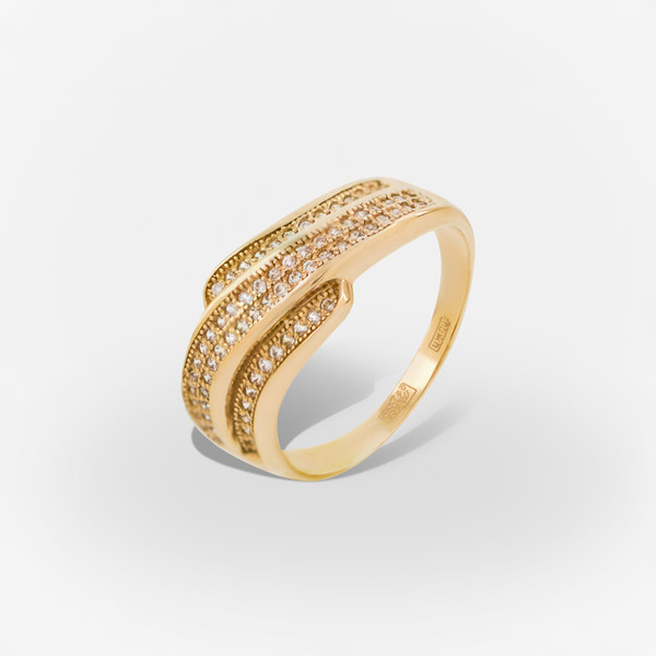 Золотое кольцо Фианит арт. 1102520 1102520