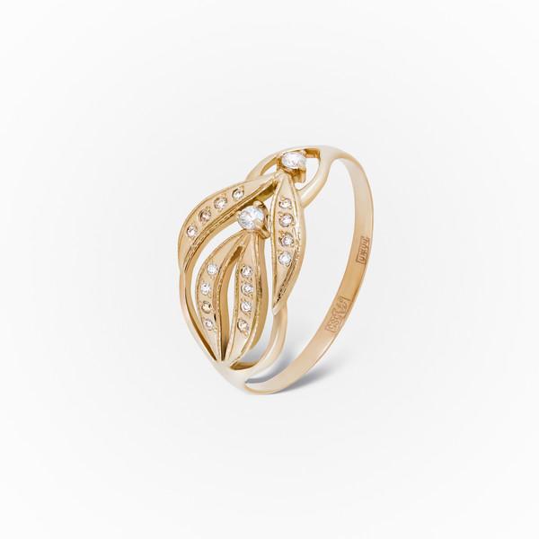 Золотое кольцо Фианит арт. 1102474 1102474