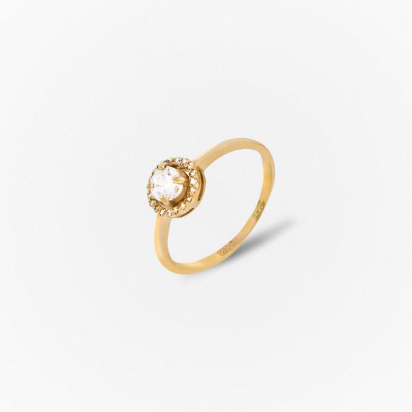 Золотое кольцо Фианит арт. 1102537 1102537