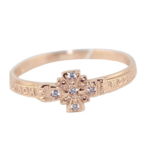 Обручальное кольцо из золота с фианитом арт. 1102488 1102488