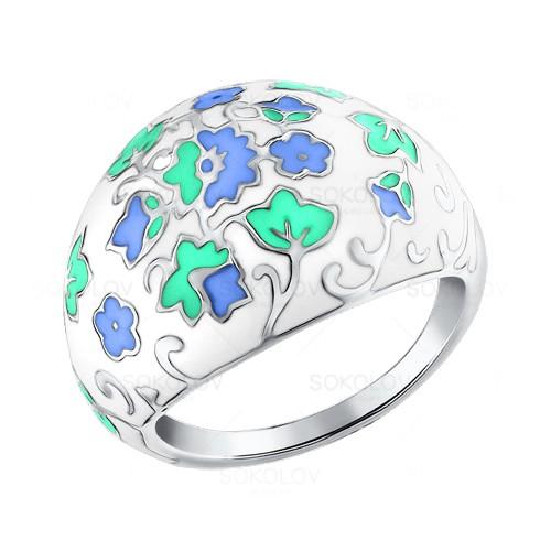 Серебряное кольцо Эмаль арт. 94011119 94011119