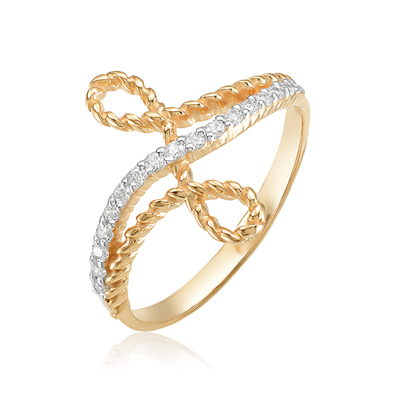 Золотое кольцо Фианит арт. 20-02-0001-23360 20-02-0001-23360