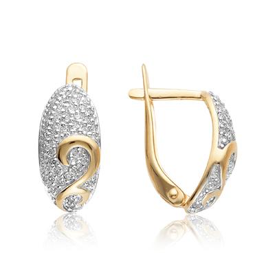 Золотые серьги с фианитом арт. 10-02-0001-22764 10-02-0001-22764