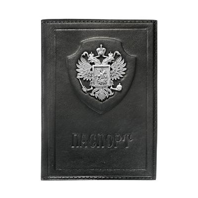 Обложка для паспорта с серебром 925 пробы арт. Держава Держава