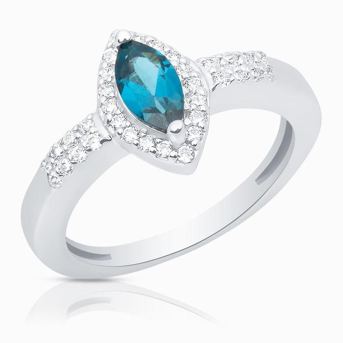 Серебряное кольцо Топаз и Фианит арт. 06287 06287
