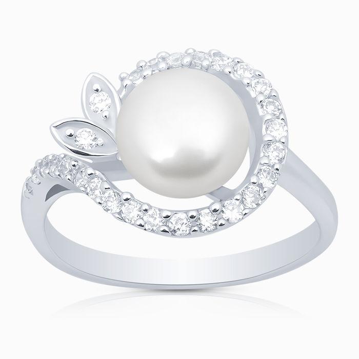 Серебряное кольцо Жемчуг и Фианит арт. 02940 02940