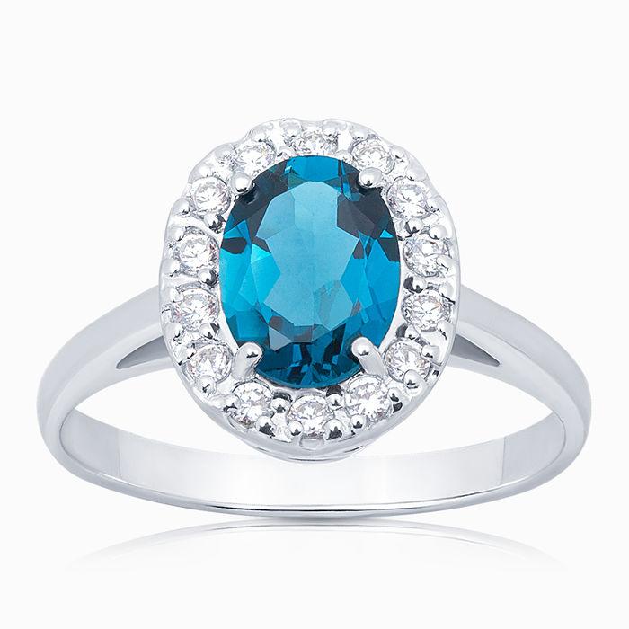 Серебряное кольцо Топаз и Фианит арт. 05667 05667