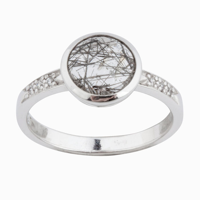 Серебряное кольцо Кварц и Фианит арт. 14886 14886