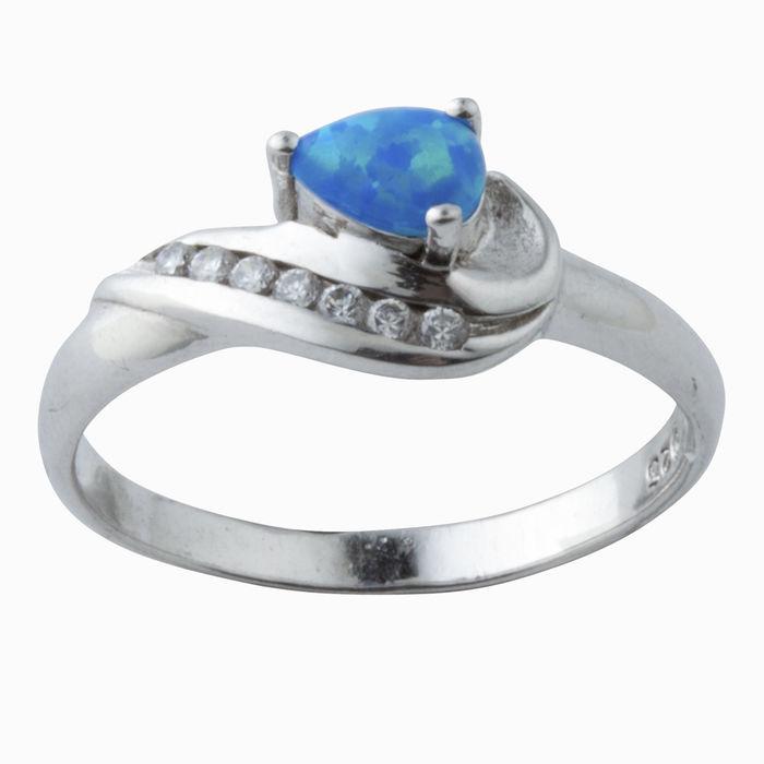 Серебряное кольцо Опал и Фианит арт. 08828 08828