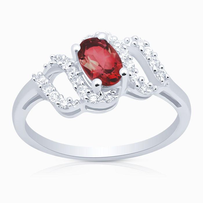 Серебряное кольцо Гранат и Фианит арт. 06550 06550
