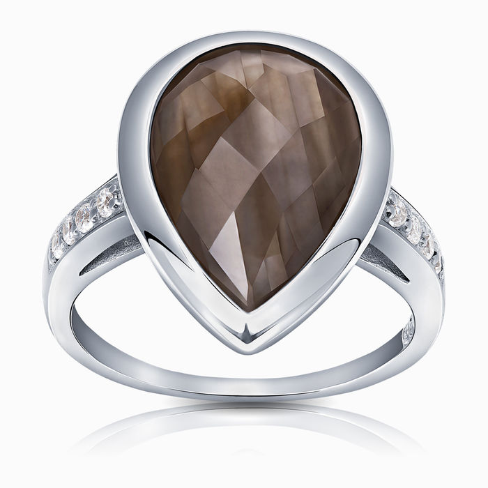 Серебряное кольцо Прочие и Фианит арт. 16222 16222
