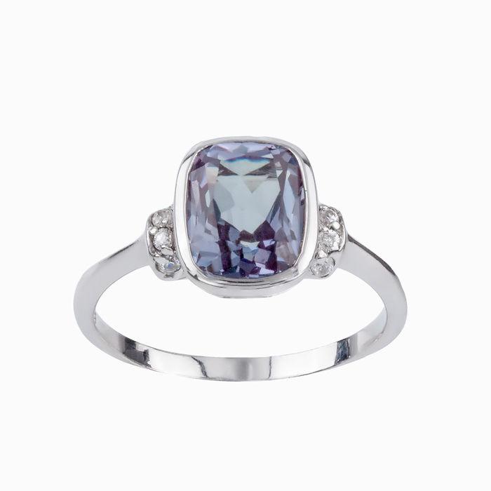 Серебряное кольцо Александрит и Фианит арт. 15930 15930