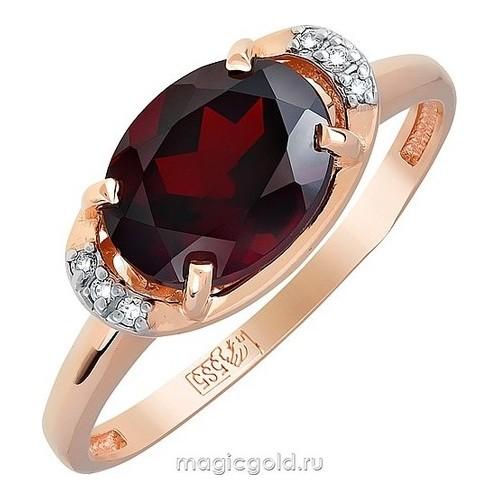 Золотое кольцо Гранат и Фианит арт. кл-536к-г кл-536к-г