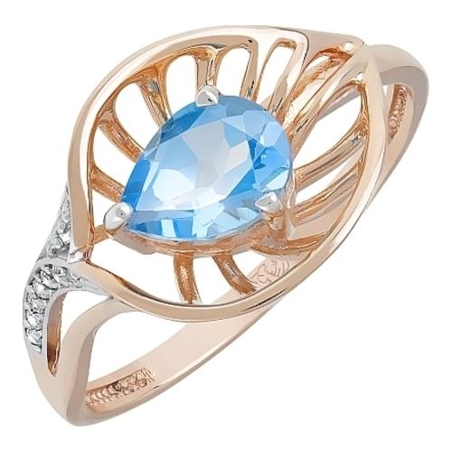Золотое кольцо Топаз и Фианит арт. кл-533к-т кл-533к-т